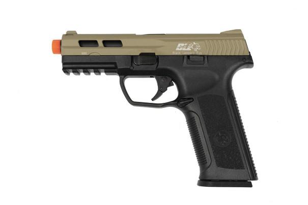 ICS BLE-XAE Gas Blowback Airsoft Pistol, Tan / Black