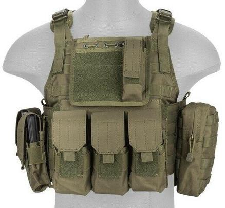 Lancer Tactical Nylon Tactical Assault Plate Carrier, Olive Drab