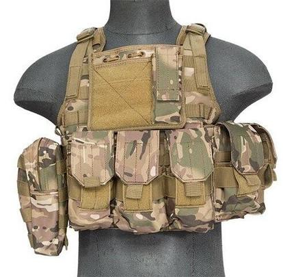 Lancer Tactical Nylon Tactical Assault Plate Carrier, Camo