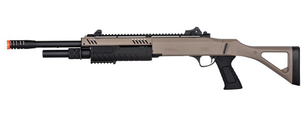 BO Manufacture FABARM STF12 18 Barrel Pump Action Shotgun w/ Stock, Dark Earth