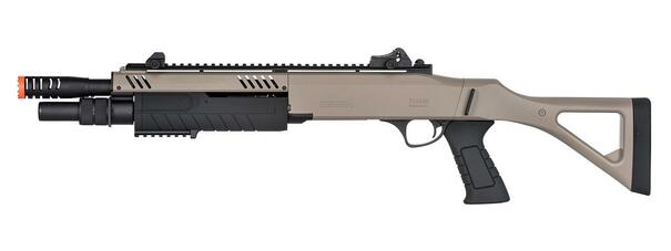 BO Manufacture FABARM STF12 11 Barrel Pump Action Shotgun w/ Stock, Dark Earth
