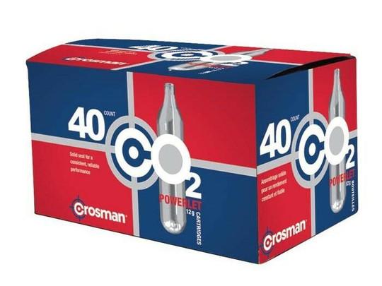 Crosman 12 Gram CO2, 40 Cartridges - GROUND SHIPPING ONLY