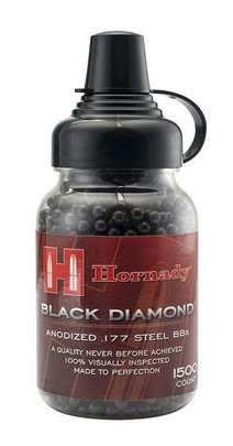 UMAREX Hornady Black Diamond Steel .177 Cal 1500 Count BBs, Anodized Finish