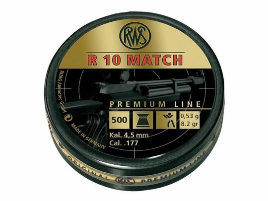 UMAREX RWS R10 Match Competition .177 Cal 500 Count Wadcutter Pellets, 8.2 Grains