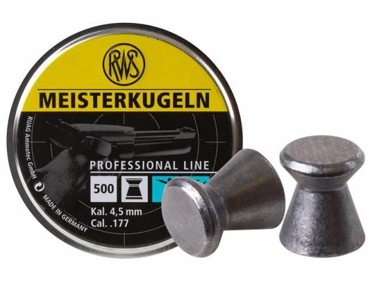 UMAREX Meisterkugeln Pistol .177 Cal 500 Count Wadcutter Pellets, 7.0 Grains