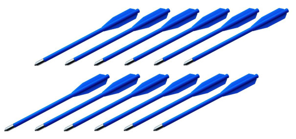 BOLT Crossbows Plastic Youth Bolts, 12-Pack