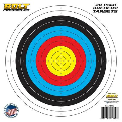 BOLT Crossbows 11 Paper Targets, 20 Pack