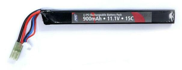 ASG 11.1v 900mAh Single Stick LiPO Battery