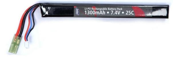 ASG 7.4v 1300mAh Single Stick LiPO Battery