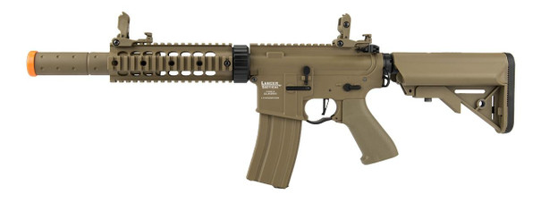 Lancer Tactical M4 SD Proline Series 7 Rail High FPS Airsoft Rifle, Tan