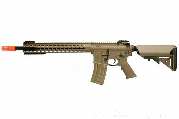 Knights Armament Nylon Fiber SR-16E3 Carbine MOD2 Airsoft AEG, Tan