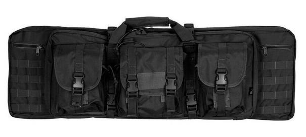 Lancer Tactical 36 MOLLE Double Gun Bag, Black