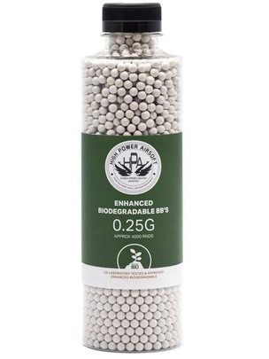 HPA 0.25g Biodegradable Airsoft BBs, 4000 Ct