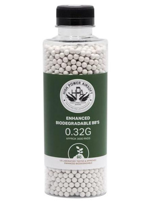 HPA 0.32g Biodegradable Airsoft BBs, 3000 Ct