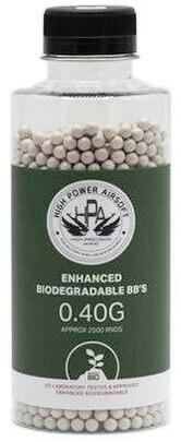 HPA 0.40g Biodegradable Airsoft BBs, 2500 Ct