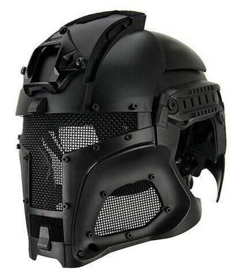 Interstellar Battle Trooper Full Face Airsoft Helmet, Black