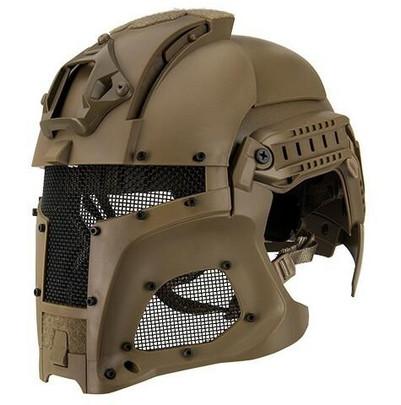 Interstellar Battle Trooper Full Face Airsoft Helmet, Tan
