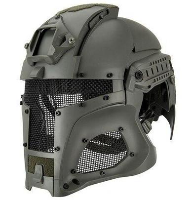 Interstellar Battle Trooper Full Face Airsoft Helmet, Foliage Green