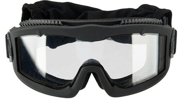 Lancer Tactical AERO Series Dual Pane Airsoft Goggles, Black