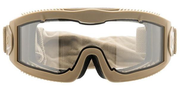 Lancer Tactical AERO Series Dual Pane Airsoft Goggles, Tan
