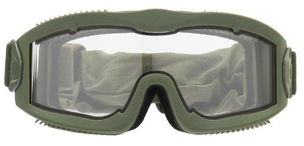 Lancer Tactical AERO Series Dual Pane Airsoft Goggles, Green