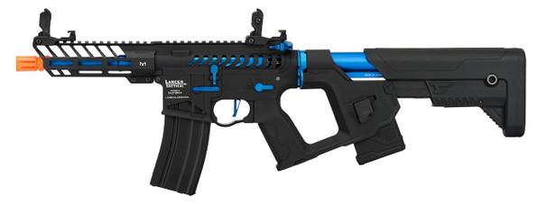 Lancer Tactical Enforcer Series NEEDLETAIL Skeleton ProLine Low FPS AEG Airsoft Rifle, Black / Navy Blue
