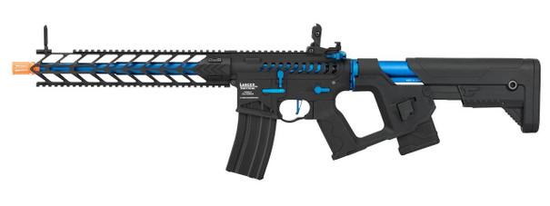 Lancer Tactical Enforcer Series NIGHT WING Skeleton ProLine High FPS AEG Airsoft Rifle, Black / Navy Blue
