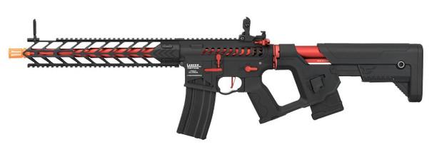 Lancer Tactical Enforcer Series NIGHT WING Skeleton ProLine High FPS AEG Airsoft Rifle, Black / Red
