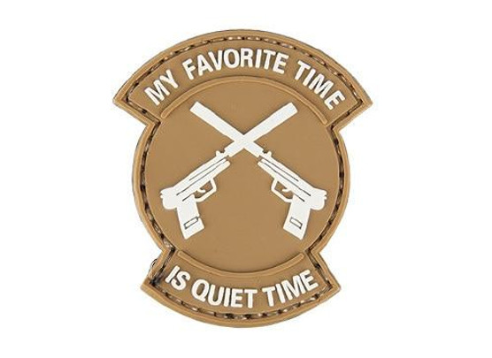 My Favorite Time Is Quiet Time PVC Patch, Tan