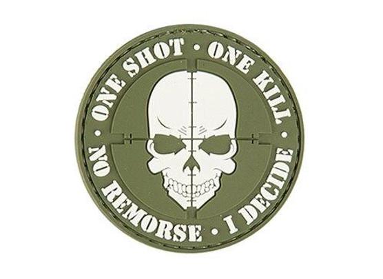 One Shot, One Kill PVC Patch, OD Green