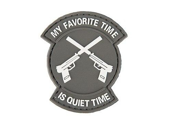My Favorite Time Is Quiet Time PVC Patch, Gray