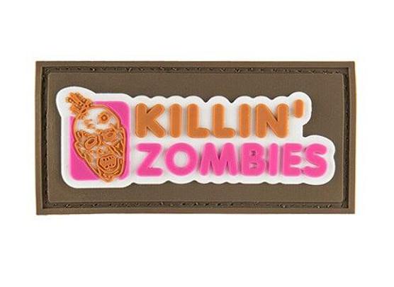 G-Force Killing Zombies PVC Morale Patch, Tan