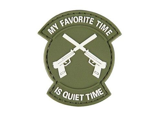 My Favorite Time Is Quiet Time PVC Patch, OD Green