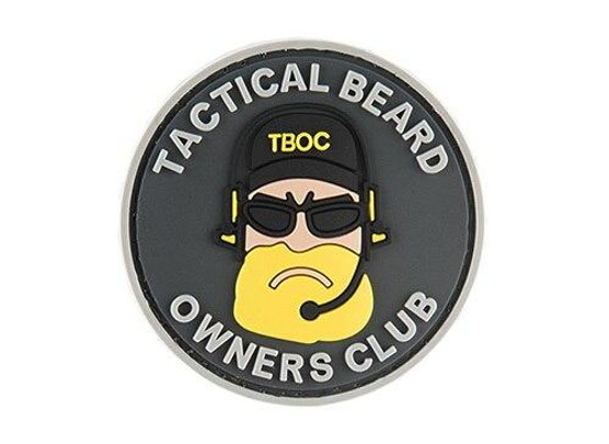 G-Force Tactical Beard Owners Club PVC Morale Patch, Black/Yellow