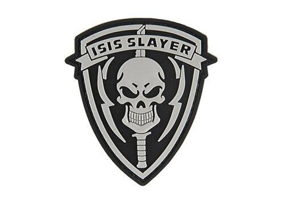 G-Force ISIS Slayer Knife and Skull PVC Morale Patch, Black