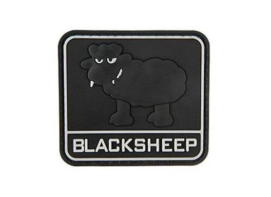 Big Black Sheep PVC Morale Patch, Black