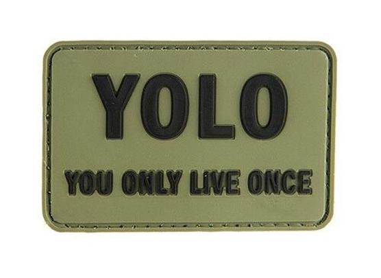 G-Force You Only Love Once PVC Patch PVC Morale Patch, OD Green