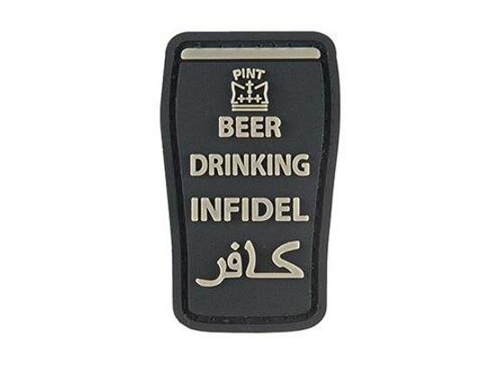 G-Force Beer Drinking Infidels Morale Patch, Black