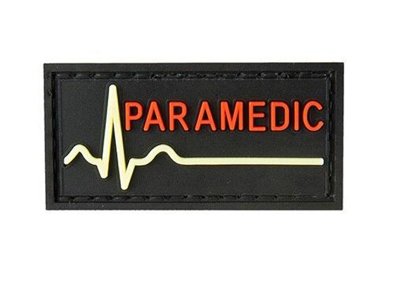 G-Force Glow-In-The-Dark Paramedic Large Patch, Black