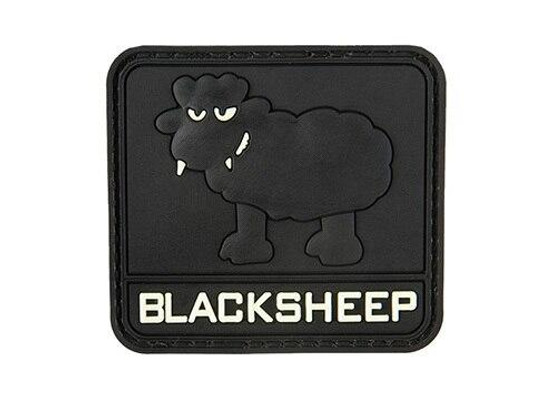 G-Force Glow In The Dark Black Sheep PVC Large Patch, Black