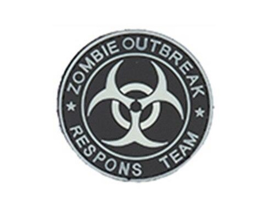 Zombie Outbreak PVC Patch, White and Black