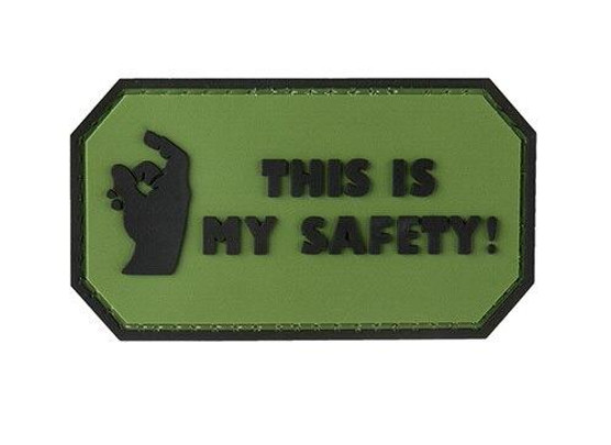 This Is My Safety PVC Morale Patch, OD Green