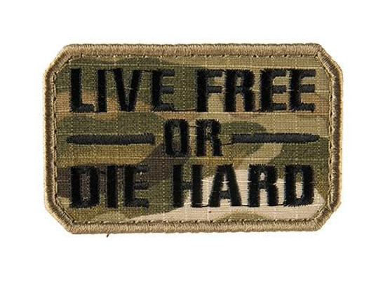 Live Free or Die Hard Embroidered Morale Patch
