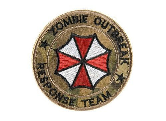 Zombie Response Team Embroided Morale Patch, Camo Tropic