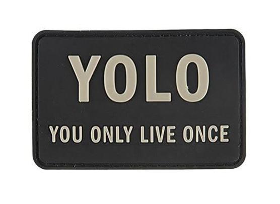 G-Force YOLO You Only Live Once PVC Morale Patch, Black