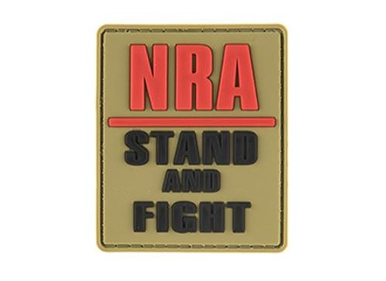 G-Force NRA Stand and Fight PVC Morale Patch, Tan