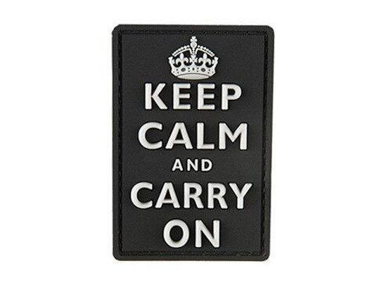 G-Force Keep Calm and Carry On PVC Morale Patch, Black