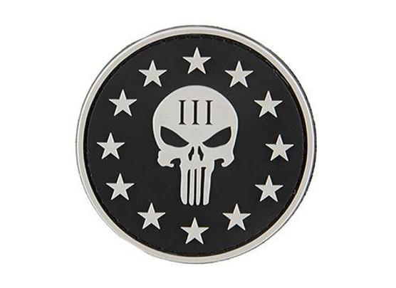 G-Force Punisher 3 Percenter Patch, Black
