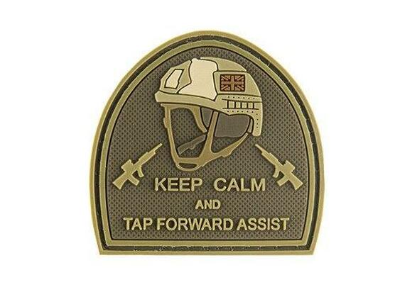 G-Force Keep Calm and Tap Forward Assist PVC Morale Patch