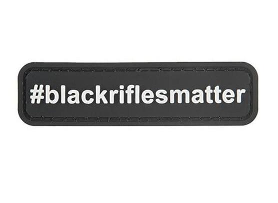 G-Force #BlackRiflesMatter PVC Morale Patch, Black